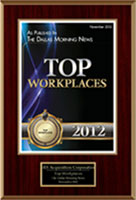 Dallas Morning News' TOP 100 Places to Work 2012