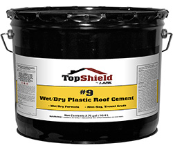 #9 Wet/Dry Plastic Roof Cement